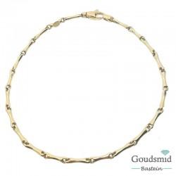 Bernstein armband 14 karaat geelgoud 205.384.21