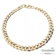 Geelgouden armband 14karaat gourmet 205.430.20