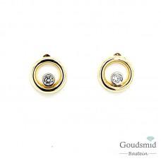 Joy & Julia 14 karaat bicolor gouden oorknoppen zirkonia 295.405.00