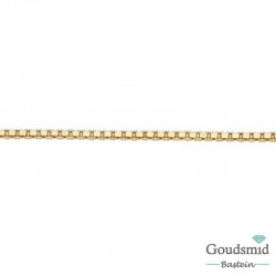 8 karaat venetiaans collier 1mm 50cm