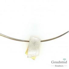 Barbarra Anna Schletterer zilveren hanger met staal collier 33471