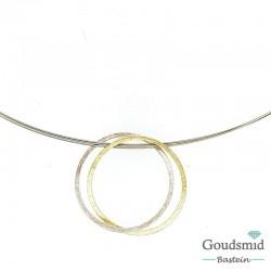 Barbarra Anna Schletterer zilveren hanger met staal collier 33481