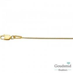 Geelgouden collier slang 1mm 45cm