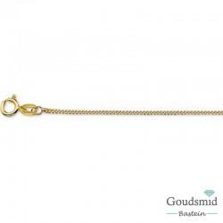 Gouden collier 1,0mm gourmet, 50cm