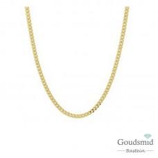 Gouden collier gourmet 2,4mm 60cm