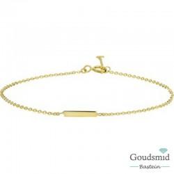 Geelgouden armband 14karaat balkje 40.18228