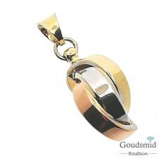 Gouden hanger 14 karaat tricolor 5512