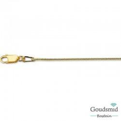 Geelgouden collier slang 1.5mm 45cm