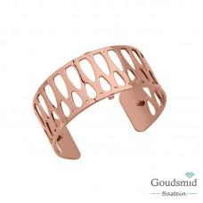 Les Georgettes armband 25mm rosekleurig maya