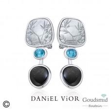 Daniel Vior Acacia zilveren oorknoppen