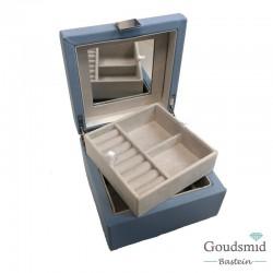 Sieradenbox klein blauw