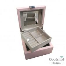 Sieradenbox klein roze