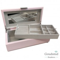 Sieradenbox groot roze