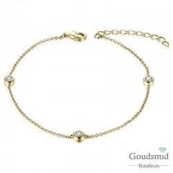Huiscollectie zilveren armband geel
