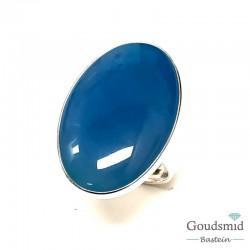 Blauw agaat ring 20x30mm