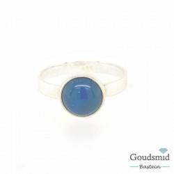 Blauw agaat ring 8mm