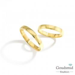 Bluerings trouwringen set BU007 14kt goud
