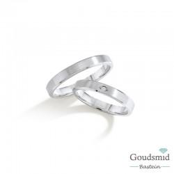 Bluerings trouwringen set BU010 zilver zirkonia
