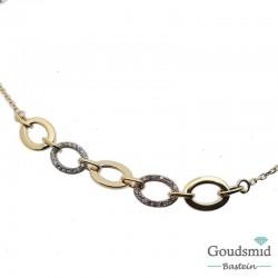 Gouden armband 14karaat zirkonia