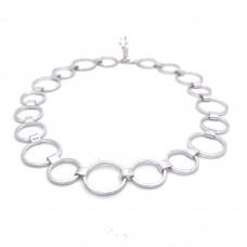 SCRATCHED collier rondjes ijsmat/poli