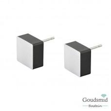 Clic Jewellery aluminium earring matte black O15Z