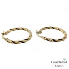 Gouden creolen 14 karaat