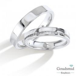 Bluerings trouwringen set PA003 14kt goud Diamant