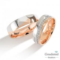 Bluerings trouwringen set PA004 14kt goud Diamant