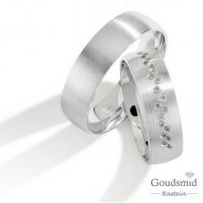 Bluerings trouwringen set PA007 14kt goud Diamant