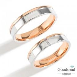 Bluerings trouwringen set PA009 14kt goud Diamant
