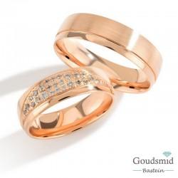 Bluerings trouwringen set PA010 14kt goud Diamant