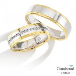 Bluerings trouwringen set PA011 14kt goud Diamant
