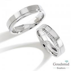 Bluerings trouwringen set PA013 14kt goud Diamant