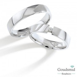 Bluerings trouwringen set PA014 14kt goud Diamant