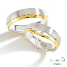 Bluerings trouwringen set PA017 14kt goud zirkonia