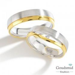 Bluerings trouwringen set PA017 14kt goud Diamant