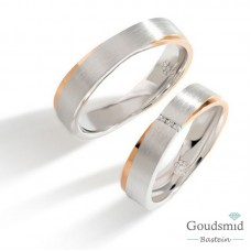 Bluerings trouwringen set PA019 14kt goud Diamant