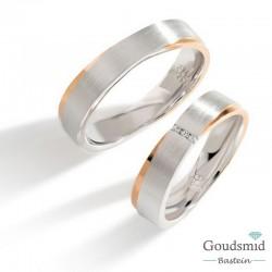 Bluerings trouwringen set PA019 zilver zirkonia