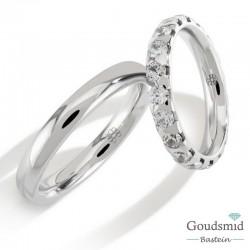 Bluerings trouwringen set PA022 14kt goud Diamant