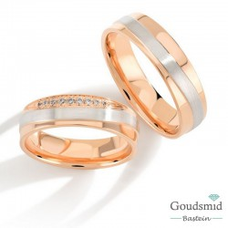 Bluerings trouwringen set PA027 14kt goud Diamant