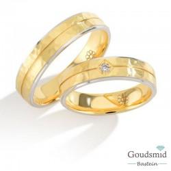 Bluerings trouwringen set PA028 14kt goud zirkonia