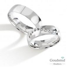 Bluerings trouwringen set PA030 14kt goud zirkonia