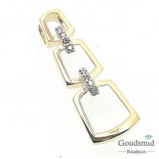 Gouden hanger 14 karaat geelgoud zirkonia PMDA01-0708