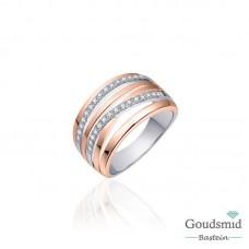 Huiscollectie zilveren ring rose