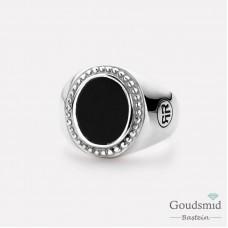 Rebel&Rose Zilveren Ring ovaal Onyx RR-RG0015-S-58
