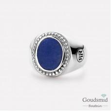 Rebel&Rose Zilveren Ring ovaal Lapis Lazuli RR-RG0016-S-56